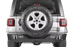 "Hooke Road For Jeep Wrangler JK 07-18 Rear Bumper w// 2/"" Hitch Receiver /& Lights"