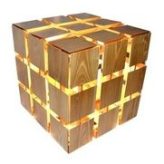 ParrotUncle - Wood Rubik's Cube Table Lamp For Bedroom - Wood Rubik's Cube Table Lamp For Bedroom