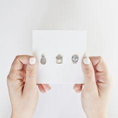 earrings - silver jewelry