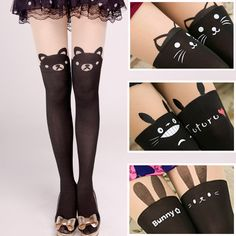 "Bear tights cute girl fashion tights pants Cute Kawaii Harajuku Fashion Clothing & Accessories Website. Sponsorship Review & AffiliateProgram opening!I personally love trousers like this and if You like too, on this site You can find it, and use this coupon code ""Fanniehuang"" to get all 10% off"