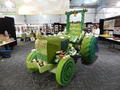 Yarnbombed tractor in Melbourne Australia