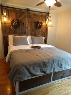 reclaimed wood headboard cal king do it yourself home projects rh pinterest com