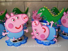 Cumple George Pig, Peppa E George, George Pig Party, Birthday Themes For Boys, 2nd Birthday Parties, Pig Birthday, Aniversario Peppa Pig, Cumple Peppa Pig, Foam Sheet Crafts