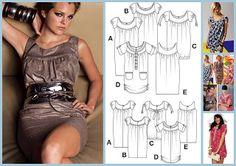 Free PDF pattern: https://sites.google.com/site/moldescosturabaulcostureras/home/varios-en-uno/Tunica-10-ABCD-EasyFashion-E971-Patron.pdf?attredirects=0=1 Introductions (german): https://sites.google.com/site/moldescosturabaulcostureras/home/varios-en-uno/Tunica-10-ABCD-EasyFashion-E971-Instrucciones-Aleman.pdf?attredirects=0=1