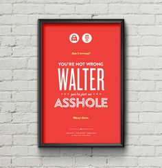 Big Lebowski Poster / The Dude / Walter / Quote / by TheKnutsens