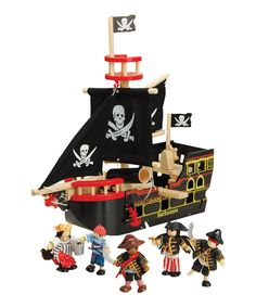 Look at this Constructive Playthings Let's Sail Pirate Ship Play Set on #zulily today!