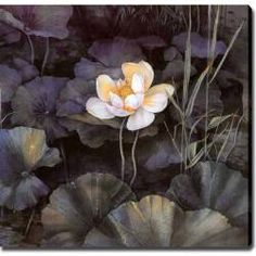 @Overstock - Artist: Unknown   Title: Lotus  Product type: Canvas art   http://www.overstock.com/Home-Garden/Lotus-Giclee-Canvas-Art/5760225/product.html?CID=214117 $93.59