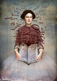 Wrapped by the words / Arropada por las palabras (ilustración de Catrin Welz Stein). #reading #books