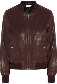Étoile Isabel Marant - Brantley Leather Bomber Jacket - Burgundy