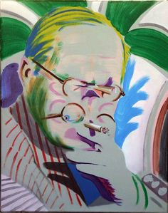 "Darren Coffield ""Hockney Takes a Breather"""