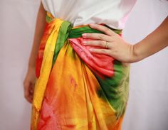 How to Make a Sarong -- via wikiHow.com. I live in these in the summer. Easy to make clothing