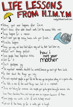 Life Lessons from How I Met Your Mother ~All of them are true~