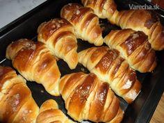 Express croissant slaný Croation Recipes, Bread Dough Recipe, Russian Recipes, Croissant, Dumplings, Hot Dog Buns, Sausage, Anna, Pizza