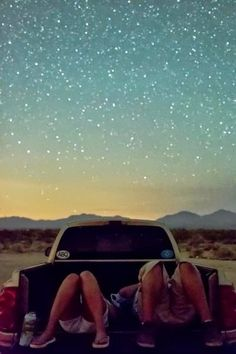 Watch the stars outdoors.