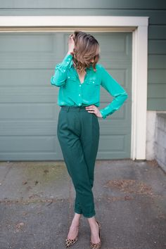 teal + forest green + leopard print.