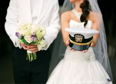 How smart does a man look getting married in uniform.