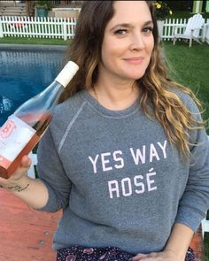 drew barrymore shares our feelings on rosé