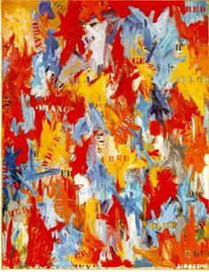 Jasper Johns, False Start, 1959, Oil on canvas, 170,8 x 137,2 cm