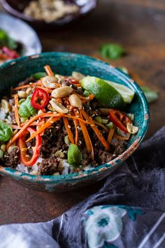 20 Minute Thai Basil Beef and Lemongrass Rice Bowls
