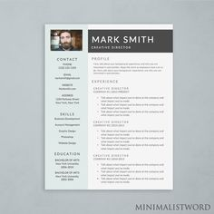 Ms Word Resume Actor Resume Template  Microsoft Word Doc *instant Download .