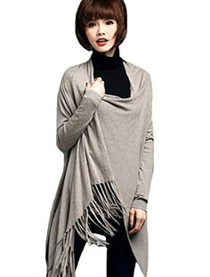 Mordenmiss Womens Fashion New Shawl Cape Garment Style 5 Camel ** Click image for more details.