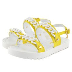 Kids Cavern - Dsquared2 SS16 Girls Yellow Sandals 42204 | Kids Cavern - Armani Junior, D&G, Childrens Clothing, Designer clothes, fashion, Kids Cavern, D and G, Kids Clothing