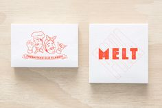 Logo and business cards by Can I Play for Australian pizza franchise Melt