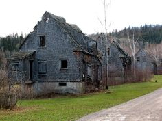 Val-Jalbert Ghost Town - Quebec,Canada. The pulp mill closed in 1927 and with no source of income the whole town was abandoned. [800×600]. -...