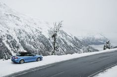 """daddywasaplane: """" Saab 9-3 Aero Convertible 20th Anniversary Edition The only cabrio that feels at home in the snow """""""