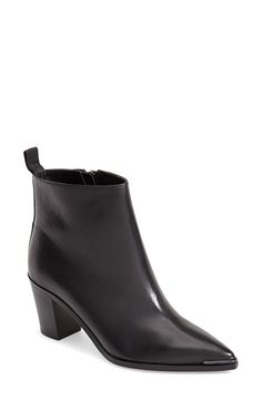 Acne Studios 'Loma' Pointy Toe Leather Bootie (Women) available at #Nordstrom