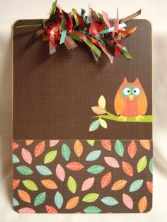 OWL CLIPBOARD altered decorated clipboard