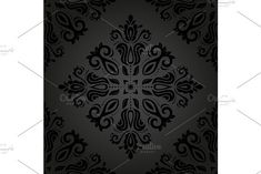 Oriental vector pattern with damask, arabesque and floral elements. Damask Patterns, Fashion Graphic Design, Arabesque, Vector Pattern, Abstract Backgrounds, Oriental, Graphics, Floral, Graphic Design