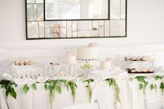 white wedding cake table ideas