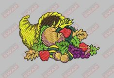 Horn of Plenty - Embroidery File Embroidery Files, Machine Embroidery, Horn Of Plenty, Horns, Sewing, Dressmaking, Couture, Sew, Horn