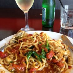 How awesome is pasta and wine for a Friday lunch?