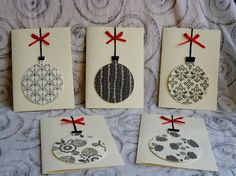 Black and white chirstmas cards
