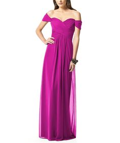 DescriptionDessy Collection 2844Fulllength bridesmaid dressOff the shoulder sweetheart necklineCrisscross ruched bodiceShirred skirtLux chiffonDesignerThe Dessy Group was originally known as A