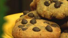 Cookies de pasta de amendoim com chocolate