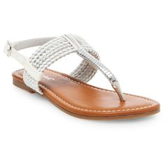 Girls' Nikko Thong Sandals Cat & Jack - White 4, Girl's