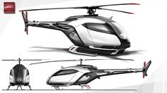 HELYOS - Urban helicopter Concept by Technicon Design France, via Behance