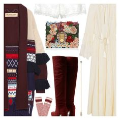 """""""Untitled #6573"""" by amberelb ❤ liked on Polyvore featuring Etro, Burberry, Prada, Pamela Love, La Perla and Dolce&Gabbana"""