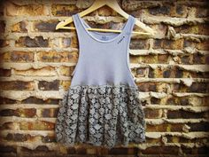 Gunmetal Gray Upcycled Tank Top// Small Medium // by emmevielle, $49.00