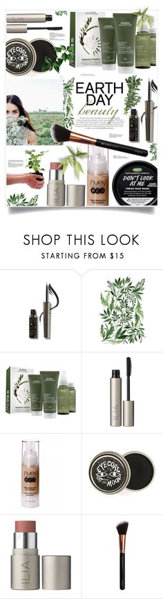 """Earth-Day Essentials: All-Natural Beauty"" by sinesnsingularities ❤ liked on Polyvore featuring beauty, Roberto Cavalli, Aveda, Ilia, Nvey Eco, M.O.T.D Cosmetics, contest and earthday"