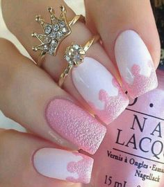 Don't worry if you are a beginner and have no idea about the nail designs. These pink nail art designs for beginners will help you get ready for your date Cute Pink Nails, Pink Nail Art, Cute Nail Art, Fancy Nails, Beautiful Nail Art, Love Nails, White Nails, Art Nails, Beautiful Images