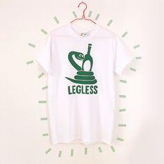 Funny Tshirt Legless Unisex Tshirt Beer Tshirt by helloDODOshop