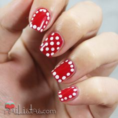 Polka Dots Nail Art   Nail Art con Lunares