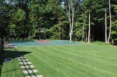 backyard basketball court landscaping | Outdoor Sport Courts Design by Scenic Landscaping Company NJ