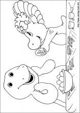 Lovely Barney Coloring Book 50 Barney and Friends coloring