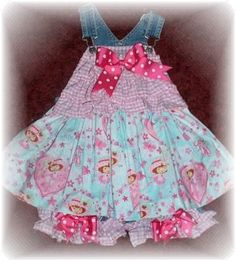 Girls, size 18 months, strawberry shortcake overalls