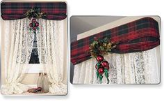 Christmas Decorating with the Top Banana Cornice!  Get ready for any holiday party by quickly changing the fabric on your do-it-yourself window treatments!   Add a few ornaments, holly, tinsel or garland and you have a beautiful new look in your home for entertaining!  http://www.topbananacornice.com